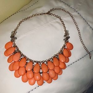 Francesca's Coral Statement Necklace! 🧡